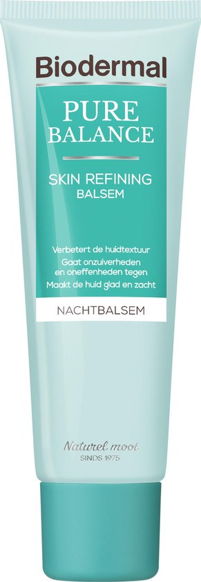 Biodermal Pure Balance Nachtcreme Skin Refining Balsem - Verzorgende nachtcrème en speciaal ontwikkeld voor een volwassen huid met onzuiverheden en oneffenheden - 50ml