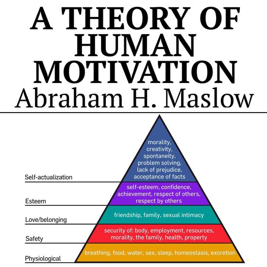 Boek cover A Theory of Human Motivation van Abraham H Maslow (Onbekend)