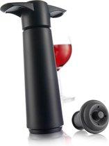Vacu Vin Vacuüm Wine Saver- vacuümpompje met 1 stopper - zwart