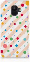 Samsung Galaxy A6 (2018) Standcase Hoesje Design Dots