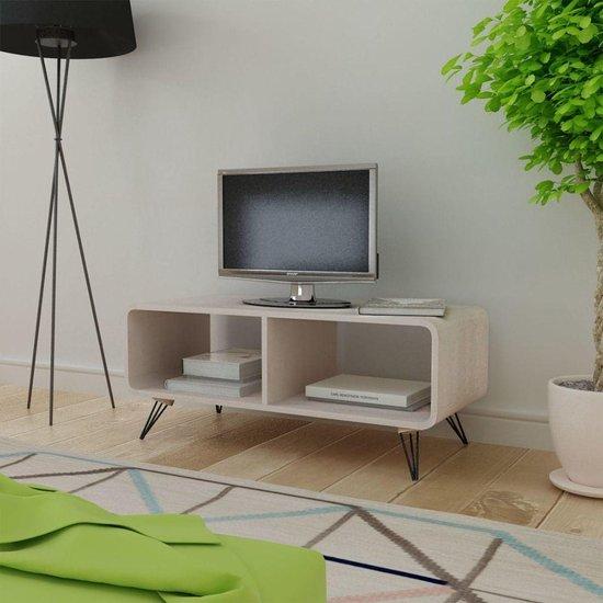 vidaXL TV-meubel 90 x 39 x 38,5 cm hout grijs