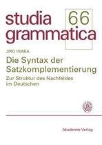 Die Syntax der Satzkomplementierung