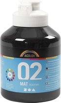 A-Color acrylverf, 500 ml, zwart