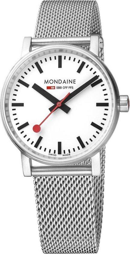 Mondaine evo2 MSE.35110.SM Horloge – Edelstaal – Zilverkleurig – Ø35 mm