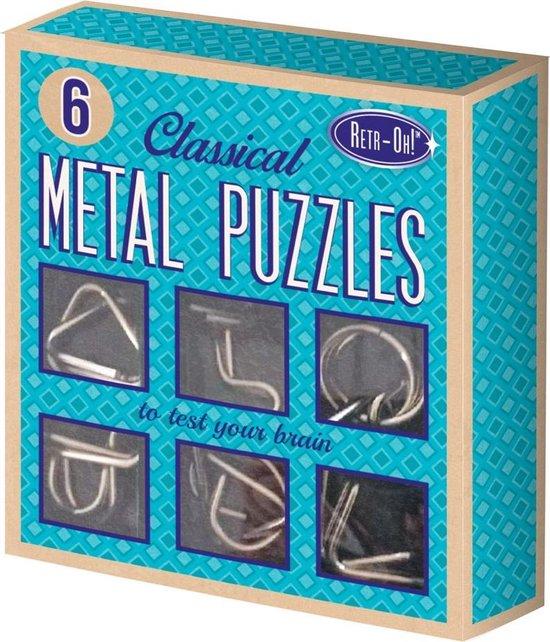 Afbeelding van het spel Retr-Oh! Denkpuzzel metaal: 6 stuks