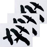 Vogel raamstickers zeflklevend – Vogelsticker – Vogel raam sticker – 11 tm 16,5 cm - Set van 9