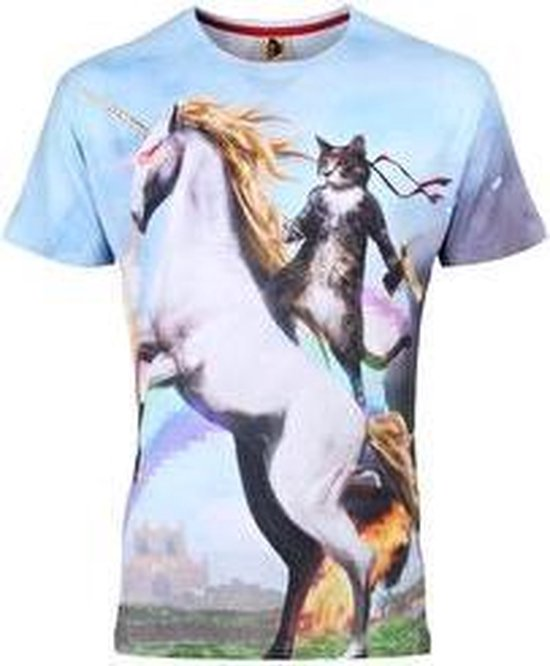 Awesome cat festival shirt Maat L Crew neck