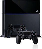 Sony PlayStation 4 Console 500GB + 2 Wireless Dualshock 4 Controllers - Zwart PS4 bundel