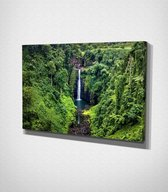 Waterfall In Jungle Canvas | 70x100 cm
