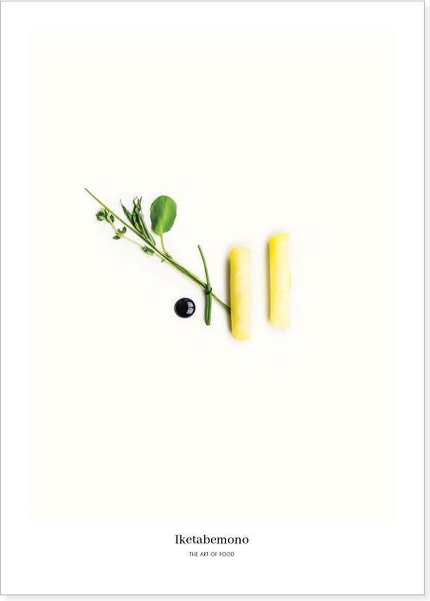 Food art print poster met Burpee's golden, balsamico-cr me & kruiden   Limited Edition   Voor in de keuken of woonkamer   Perfecte wanddecoratie voor in een Scandinavisch interieur of boven de eettafel in de eetkamer  30x40