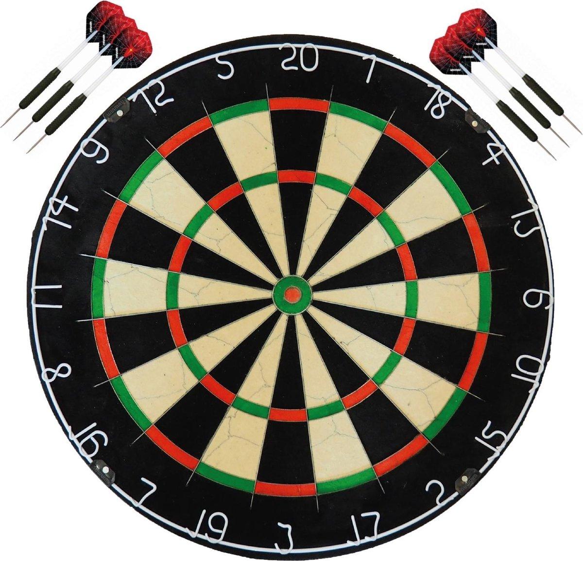 A-Merk BEST geteste dartbord bristle - dartbord - dartboard plus 2 sets - dartpijlen - Dragon darts