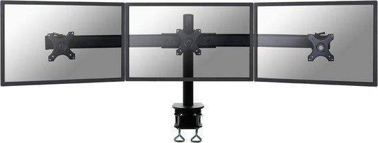 NewStar FPMA-D700D3 - Draaibare monitorarm - Geschikt voor 3 schermen van 10 t/m 27 inch - Zwart