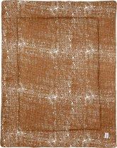 Meyco Fine lines boxkleed - 77x97 cm - camel