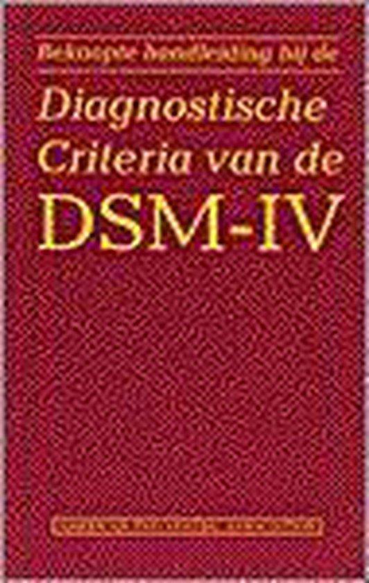 Beknopte handleiding bi jde Diagnostische Criteria van de DSM-IV - Koster Groos |