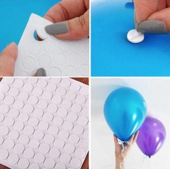 Ballonnen stickers - 100 stuks - Ballon Plakkers - Verjaardag - Versiering - Decoratie