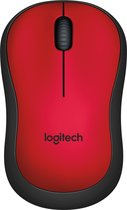 Logitech M220 Silent - Draadloze Muis - Rood