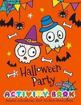 Halloween Party Activity Book for Kids
