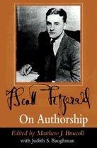 F.Scott Fitzgerald on Authorship