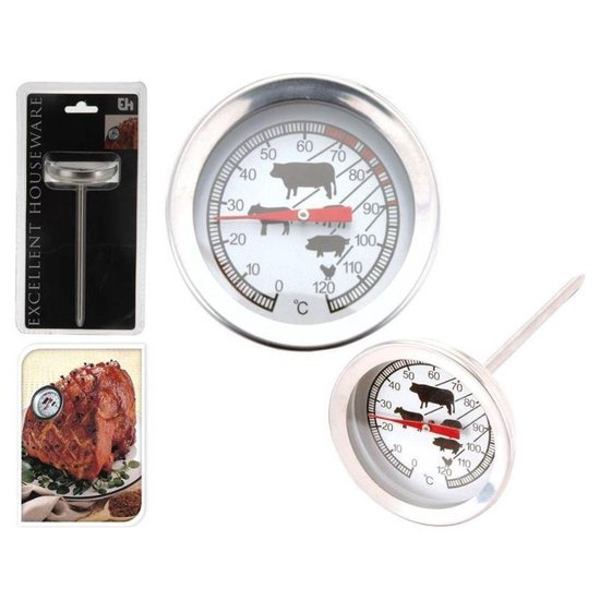 Vleesthermometer - Oven - Barbecue - RVS - Tot 120ºC - Excellent Houseware
