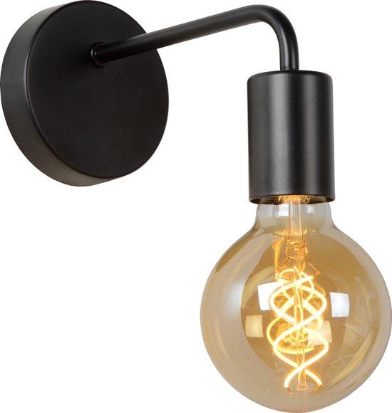 Lucide SCOTT Wandlamp - E27 - Zwart