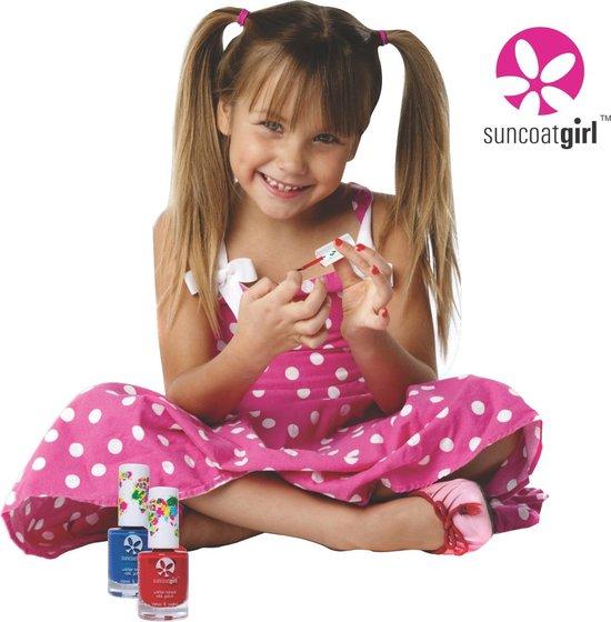 Suncoatgirl -  Veilige kindernagellak op waterbasis - set met stickertjes en vijl - Flare & Fancy