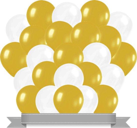 Ballonnen Goud / Wit (30ST)