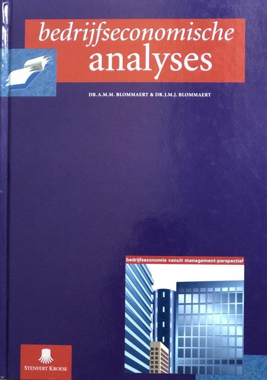 Bedrijfseconomische analyses, handboek - J.M.J. Blommaert  