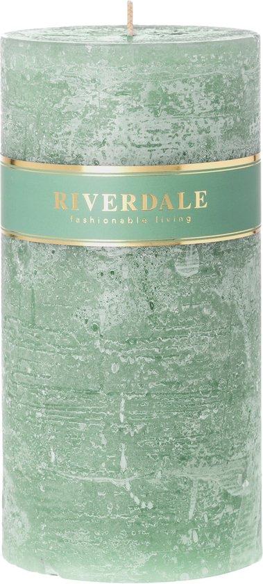 Riverdale Pillar – Kaars – 10x20cm – groen