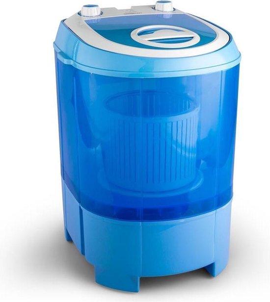 oneConcept SG003 Camping mini wasmachine centrifuge-functie 2,8kg , 180W , IPX4 , instelbare was-en centrifugetimer , blauw