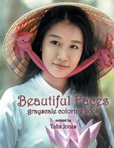 Beautiful Faces Grayscale Coloring Book