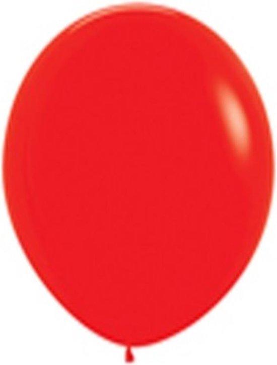 100 ballonnen rood metallic