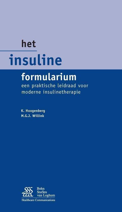 Het Insuline formularium - K. Hoogenberg | Fthsonline.com