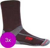 Stapp Unisex Coolmax Cordura Zwart - Sokken - 3 x 39-42