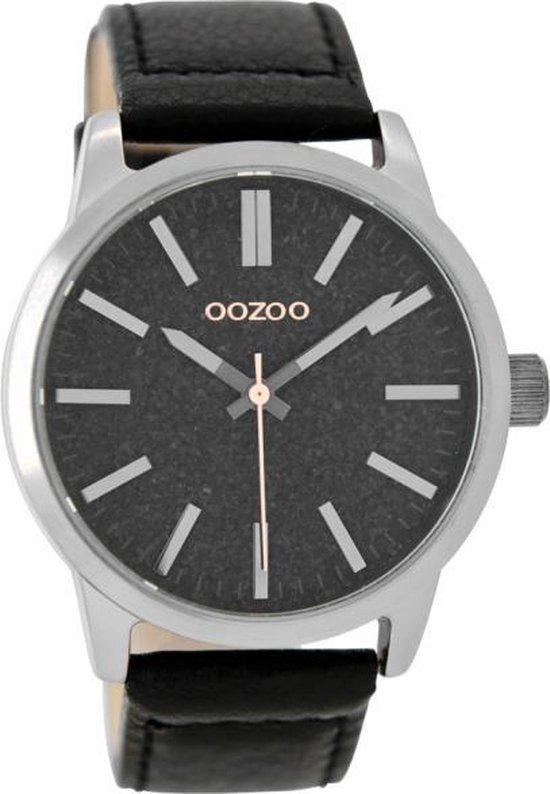 OOZOO Timepieces C9069 – Horloge – Zwart/Titaniumlook – 43mm