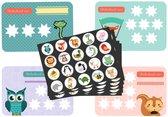 Beloningssysteem voor Zindelijkheidstraining kind - 20x beloningskaart - 120 stickers - Plasdiploma