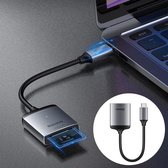 2 in 1 USB C SD Card Reader + Micro SD Kaartlezer - SD Kaart Lezer USB C