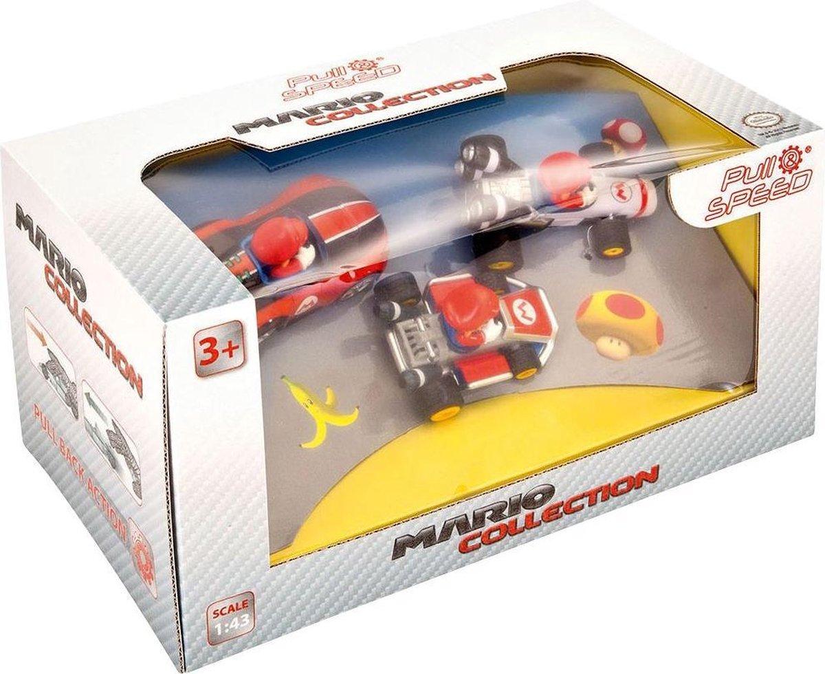 Carrera Auto Pull & Speed - Mario Kart 8 - 3-pack