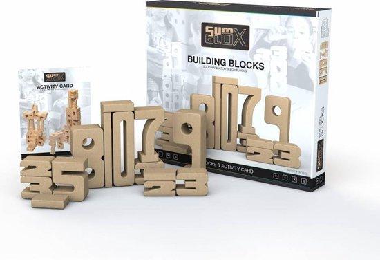 Sumblox - Leer blokken voor rekenen houten [home set] + extra 10 en spelkaarten