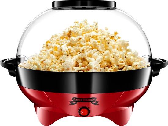 Gadgy Popcorn Machine Rond met anti-aanbaklaag - Popcorn Maker Stil en Snel -...