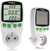 Vermogensmeter Wattmeter display meettijd GreenBlue GB202