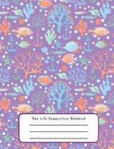 Boek cover Sea Life Composition Notebook van Designs By David