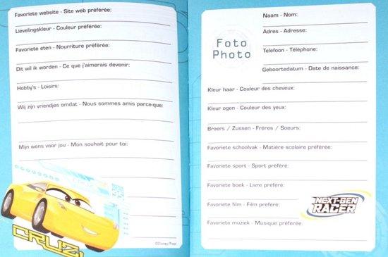 Boek - Vriendenboekje - Cars 3 - Onbekend