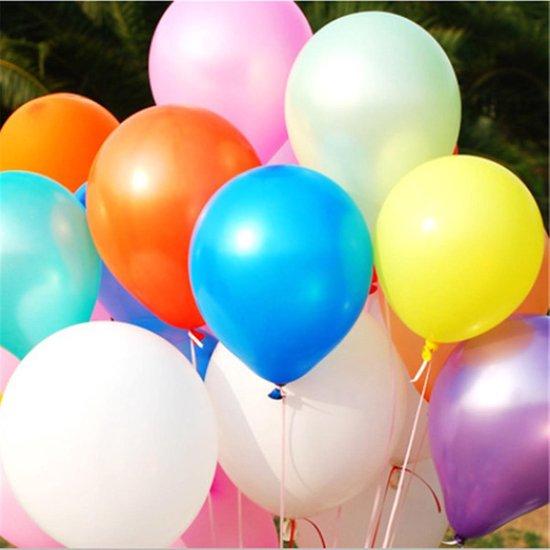 40 Stuks Stevige Ballonnen 23cm - Multicolor - Feest - Verjaardag - Ballon - Jarig - Party - Multipack - Groot - Glans - Mooi
