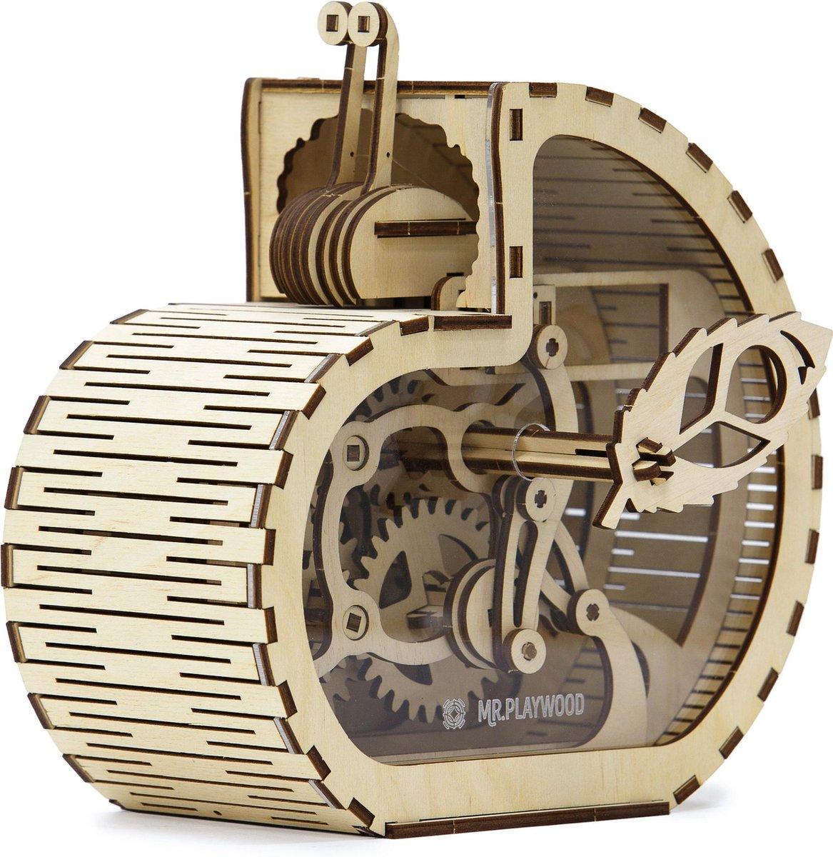 Mr. PlayWood Slak Spaarpot - Houten Modelbouw