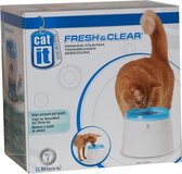 Catit Fresh And Clear - Drinkfontein Kat - Blauw /Wit - 2 L