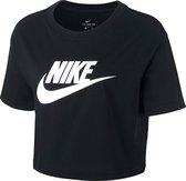 Nike Sportswear Essential Cropped Icon Futura T-Shirt Dames