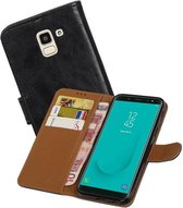 Zakelijke Bookstyle Hoesje Samsung Galaxy J6 Zwart