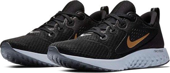 Nike Rebel React Hardloopschoenen Dames Sportschoenen - Maat 40 - Vrouwen -  zwart/grijs/goud