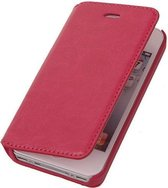 BestCases Fuchsia Map Case Book Cover Hoesje Apple iPhone 5C