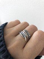 La Rosa Princesa - Boho Veer Ring - Zilver - One size